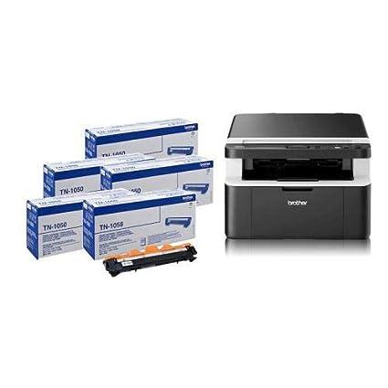 Brother DCP-1612 W impresora multifunción láser WiFi con 5 tóner ...