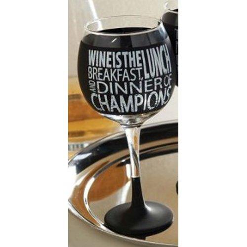 Mud Pie Chalkboard Wine Glass