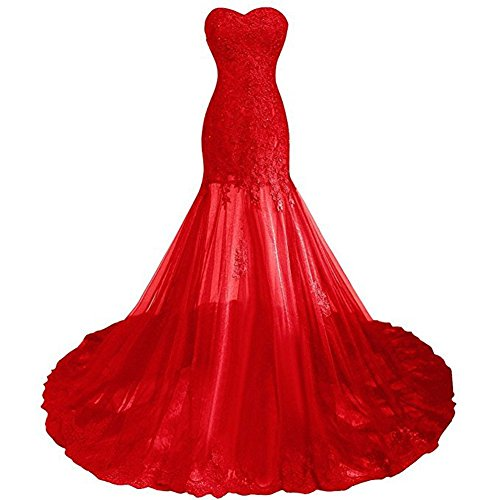 Heart Appliques Polyester Red (LL Bridal Women's Sweetheart Applique Mother Of The Bride Dresses Formal Gown Floor Length)