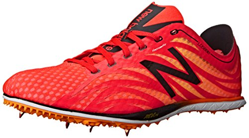 New Balance Men's LD5000V3 Track Spike Shoe, Flame/Black, 10 D US Flame / Black