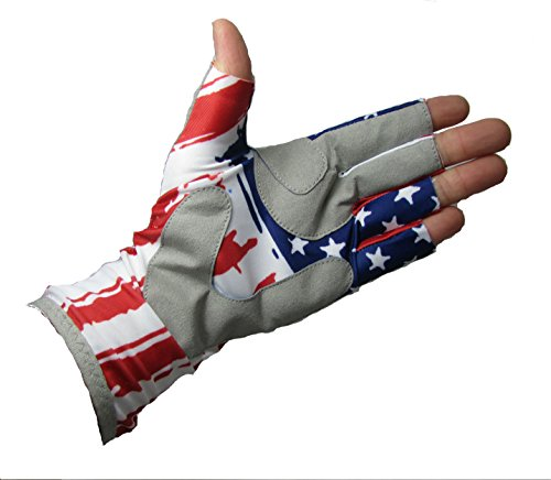 Fishing half finger guide spf sun gloves with super palm grip for Fishing sun gloves
