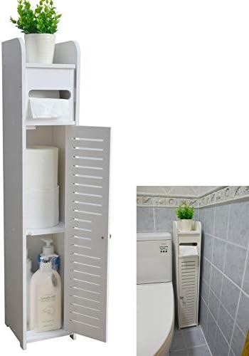 Bathroom Floor Cabinet Toilet Towel Storage Cabinet Paper Rack Home Organizer