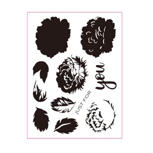 Just Floral Clear Silicone Stamp Seal Diy Scrapbooking Photo Album Decorative Card Memory 6x8inches - Stamps -
