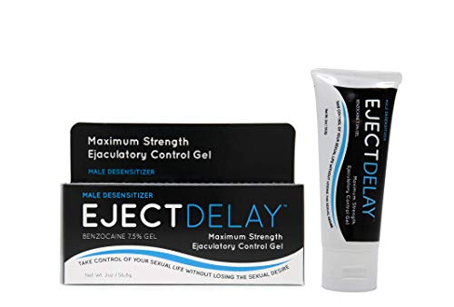 EjectDelay - 2oz Tube - Maximum Strength Ejaculation Control - Male Desensitizer - Improves Longer Lasting Climax for Men & PE or Premature Ejaculation