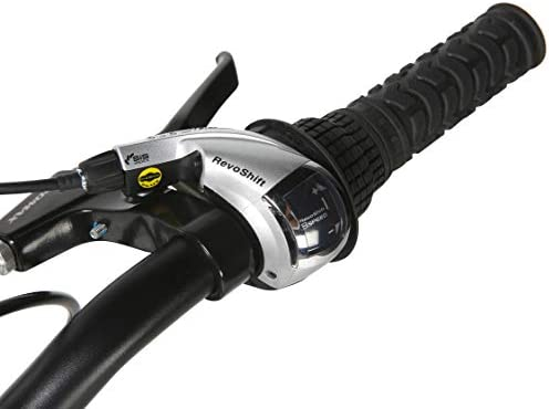 Black Dynacraft Alpine Eagle 700C 45CM Aluminum Frame Hybrid Bike