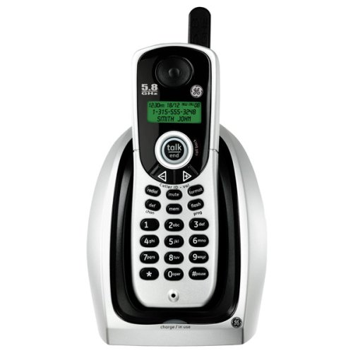 GE Cordless 5.8 GHz Analog 25836EE1 Phone with Call Waiting Caller ID ()