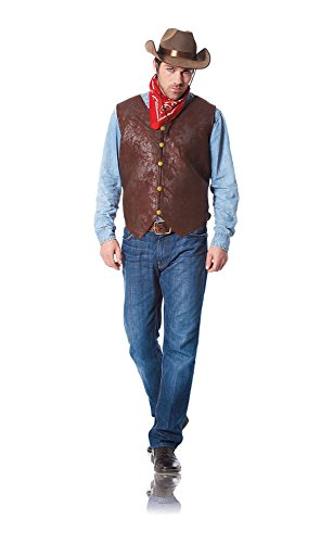 Costume Culture Men's Distressed Vest Extra Large, Brown, X-Large (Leather Pirate Vest)