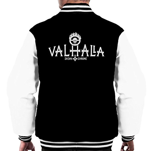 Black Valhalla white Mad Max Shiny Men's amp; Varsity Jacket Chrome qRxZ8nTq