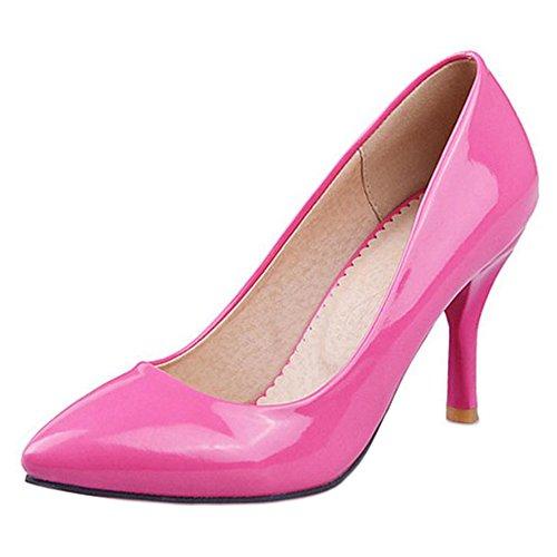 Mode La Cour De Chaussures Sur Rose Les Feuillet Des Rouge Taoffen Femmes De SnAHUaEa
