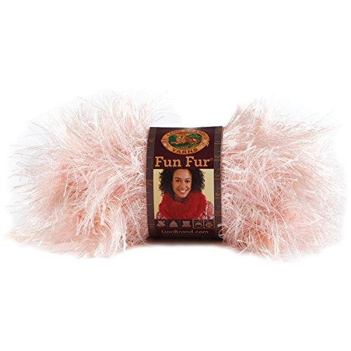 Fun Fur Yarn-Soft Pink (Lion Brand Fun Fur Yarn)