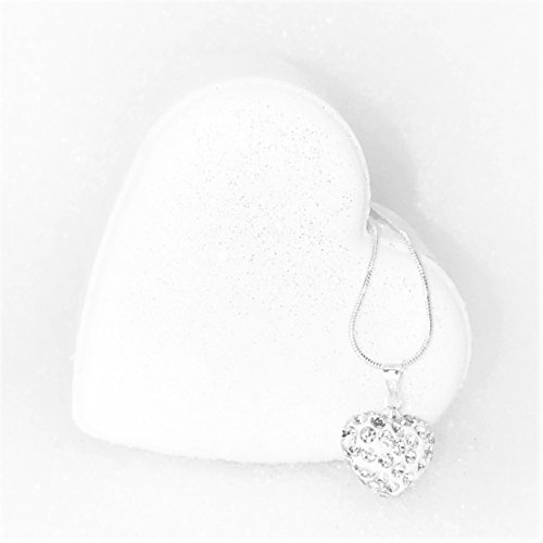 Heart Shaped Bath Bomb With Heart Necklace   Made In Usa