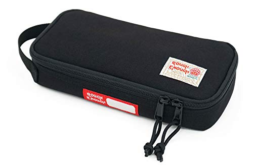 Rough Enough Zipper Travel Cable Organizer Large Pencil Case Electrician Tool Pouch Bag Portable Electronics Computer Accessories Storage Case for Kit USB Charger Stationary Men Teen Boy Student Trip