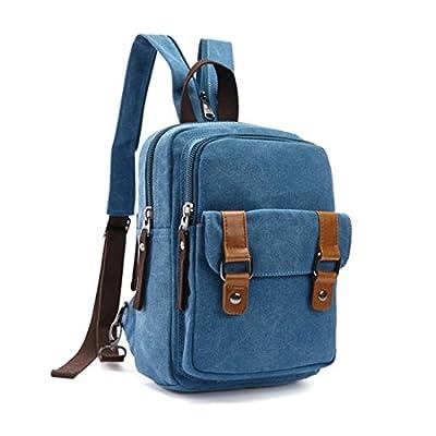 Genda 2Archer Leather Girls Daypack Fashion Embroidery Chest Bag Crossbody Cute Deep Blue