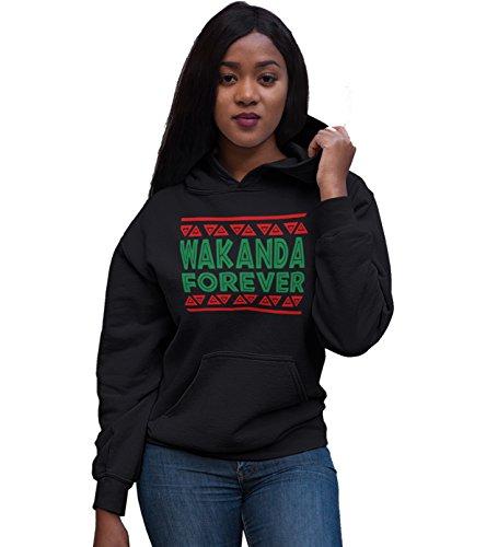(Wakanda Forever Black Panther Black Hoodie (Large))