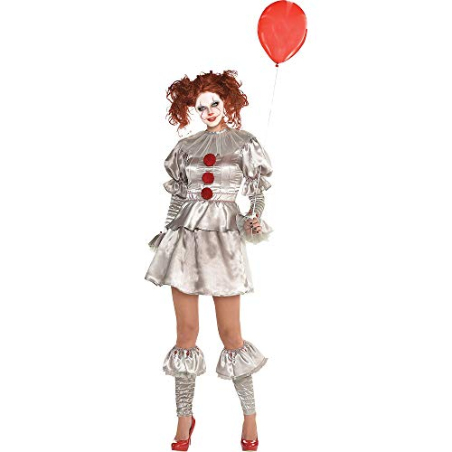 Scary Do It Yourself Halloween Costumes (SUIT YOURSELF It Pennywise Costume for Women, Size Extra-Large, Includes Dress, Leg Warmers, Boot Toppers, and a)