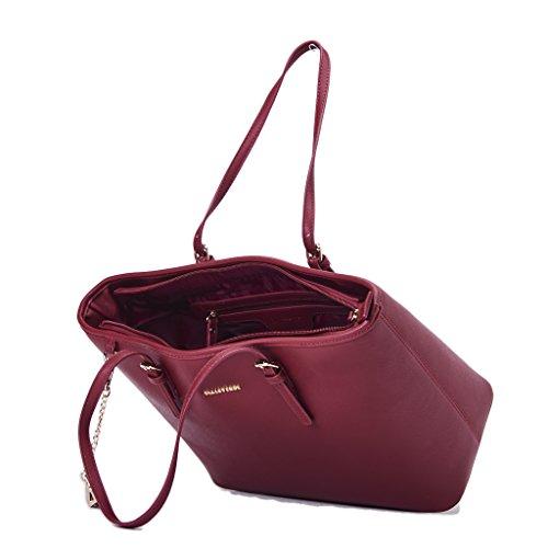 Shoppping Borsa VALLEVERDE Donna Ecopelle Bordeaux, nuova collezione autunno inverno 2017/2018