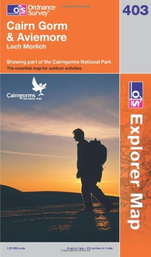 Cairn Gorm & Aviemore: Loch Morlich. Showing part of the Cairngorms National Park (OS Explorer Map) by Ordnance Survey (2011-10-17)