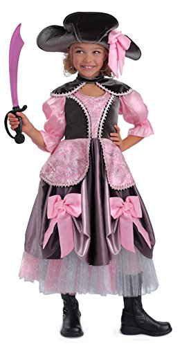 Girls Costumes The Pirate For Vivian (Princess Paradise Vivian the Pirate Costume, Multicolor,)