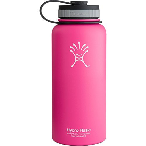 Hydro Flask Insulated Wide Mouth Stainless Steel Water Bottle, Pinkadelic, 32-Ounce