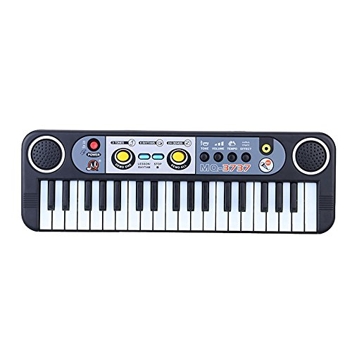 Andoer 37 Keys Multifunctional Mini Electronic Keyboard Music Toy with Microphone Educational Electone Gift for Children Kids Babies Beginners Mini Childrens Piano
