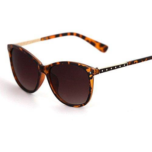 H&SY&P Oval rayas tendencia mujer gafas de sol moda gafas de ...