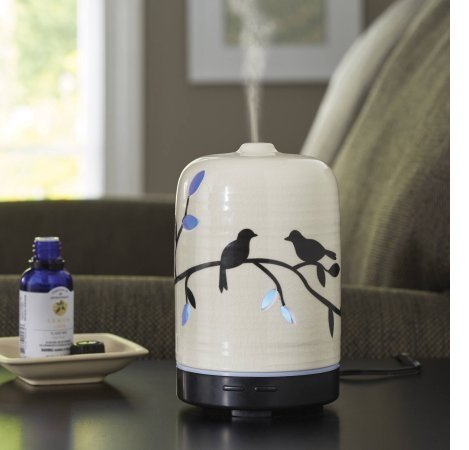 dens Essential Ceramic Oil Diffuser, Birds and Branches ()