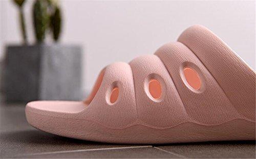 TELLW Bathroom Slippers for Male Female Summer Home Indoor Anti-Slip Thick Bottom Cool Slippers Women Dark Pink kjj0Z