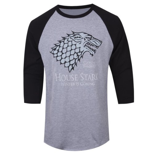 Game of Thrones Winter is Coming Raglan T-Shirt, XXL