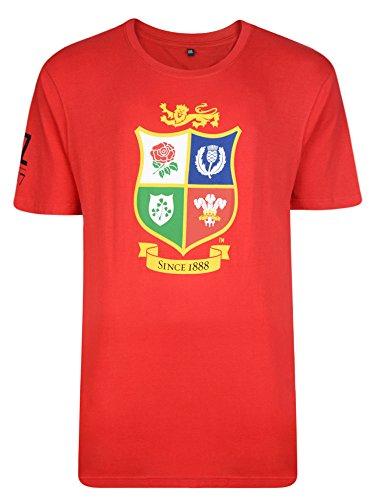 Irish Lions Rugby - British and Irish Lions Logo Tee - Red - Small