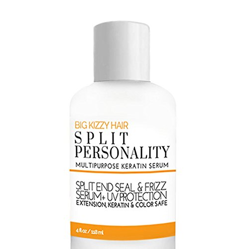 Big Kizzy Split Personality- Keratin Infused Split End Seal & Frizz Serum, Weightless Cuticle Seal and UV Protectant, Keratin Treatment safe, Strengthens and Nourishes. (Brazilian Split End Repair)