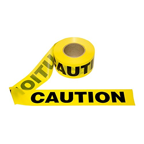 [T15101- 1 Roll- Yellow Barrier Caution Tape 1.5 MIL 3