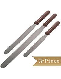 Acquisition (3 Piece) Stainless Steel Cake Decorating, Icing Spatulas - 6