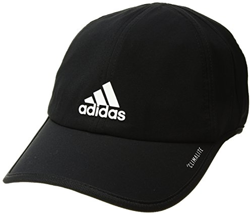 (adidas Men's Superlite Relaxed Adjustable Performance Cap, Black/White, One Size)