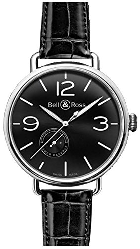 Bell-and-Ross-Vintage-Automatic-Black-Dial-Black-Leather-Mens-Watch-BLRBRWW190-BL-ST