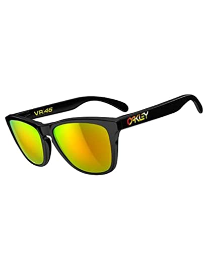 Oakley Valentino Rossi Signature Series Frogskins Sunglasses  BLACK-FIRDIRIDIUM O S 9a6bcd5c353e