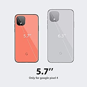OULUOQI Compatible with Google Pixel 4 Case, Dual-Layer Hybrid Design Shockproof & Scratch Resistant Protective Bumper Cover Case for Google Pixel 4 (2019 Release), Black