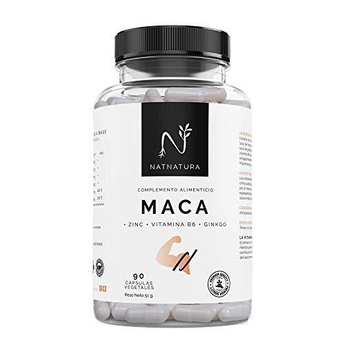 Maca. Alta concentración de maca andina pura.200mg(25:1) x2cap día, 5000mg. Aumenta el nivel de testosterona. Potenciador muscular. Aumenta los niveles de energía, resistencia y libido. 90 cápsulas.