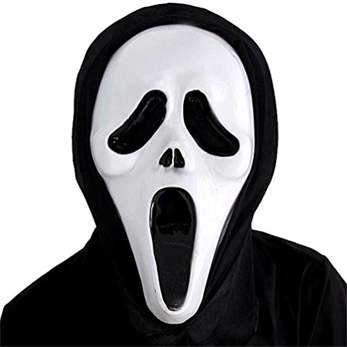 Gooday Scary Ghost Face Scream Mask Creepy For Halloween Masquerade Party Fancy Dress Costume (4 Pcs) - Mtv Scream Costumes For Kids