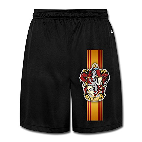 [Runy Men's Harry Potter Gryffindor Slim Sports Jogging Shorts With Pocket Black] (Manly Halloween Costumes)
