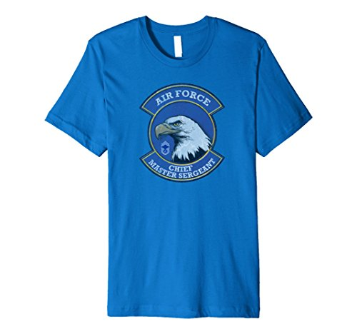 Mens AIR FORCE CHIEF MASTER SERGEANT DISTRESSED T-SHIRT XL Royal Blue