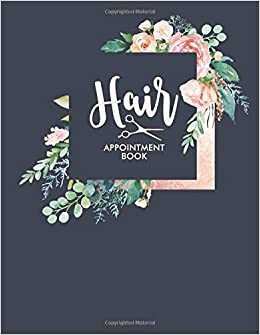 Hair: Appointment Book 2019 Floral Flower Frame Salon