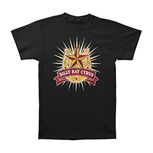 Billy Ray Cyrus Men's T-shirt X-Large Black (T-shirt Billy Cyrus Ray)