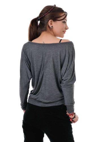 camiseta manga larga / T-Shirt mujer estampa - elfo de Om - 3Elfen gris negro