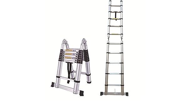 Escalera de extensión tipo A de aluminio telescópica, escalera plegable multiuso, alcance máximo 20 pies, 330 libras de capacidad máxima: Amazon.es: Bricolaje y herramientas