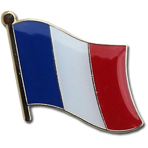 Backwoods Barnaby France Flag Lapel Pin - France Country Flag