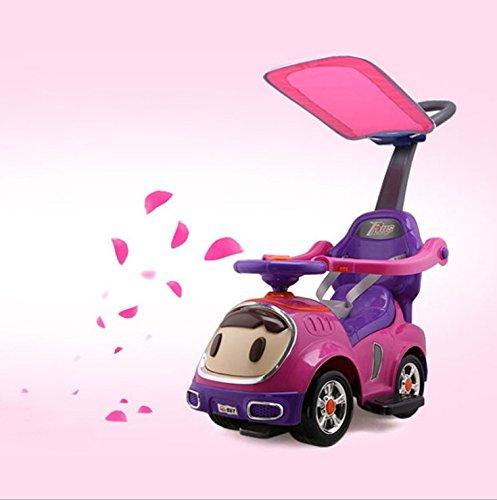 Children's multi-function twist car four-wheeled yo-walk help Scooters Baby walker can sit anti-roll-over