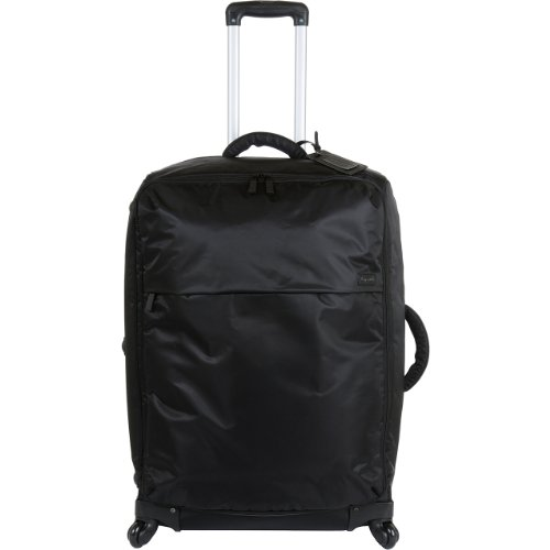 Lipault Paris Upright 4 Wheeled Carry Suitcase, Black, 28x19x10 (28 Inch Wheeled Suitcase)