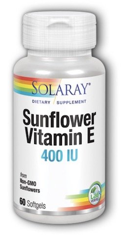 Solaray Super Bio E Sunflower 400 LU Softgels, 60 Count