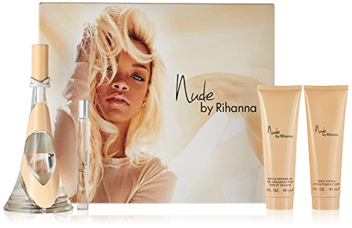 Orange Blossom Gel Perfume (Rihanna 4 Piece Gift Set for Women, Nude)