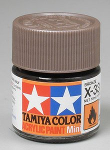 Tamiya Gloss Acrylic Paint Mini 10ml Bronze X33